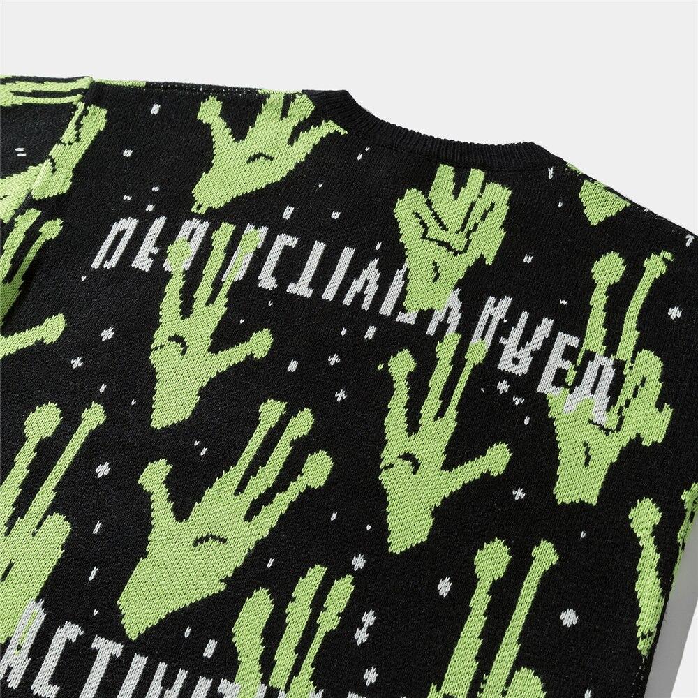 Alien Knitted Sweater E-girl 49