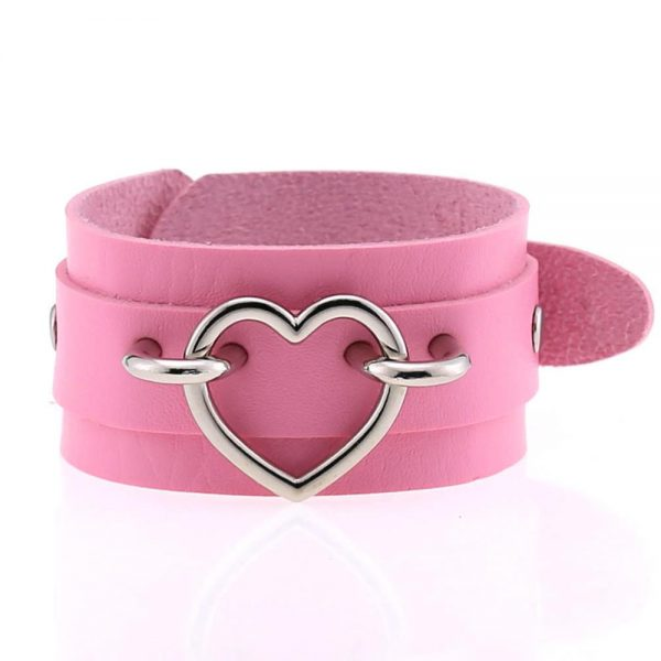 Wide Wristband with Heart 3