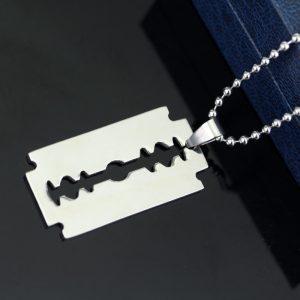 Razor Blade Pendant Necklaces 1