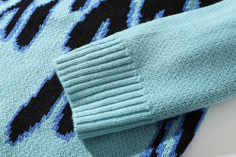 Flame Pattern Sweater E-girl E-boy 45