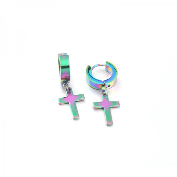 Earrings with Cross pendant 6