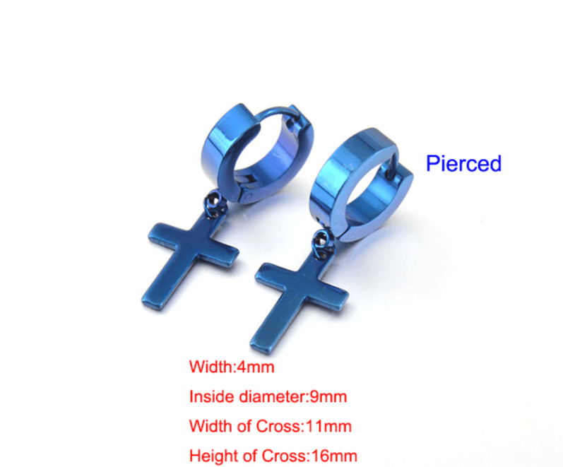 Earrings with Cross pendant 18