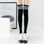 Cotton School Girl Over Knee Stockings 2