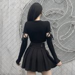 Bodycon  Long Sleeve Top with laces 5