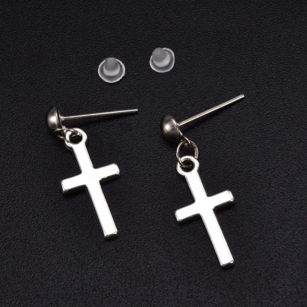 Cross pendant Earrings 2