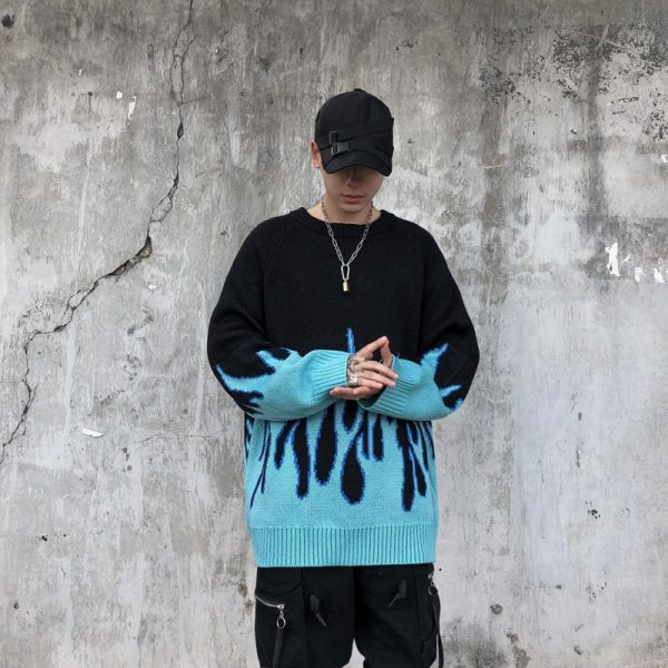 Flame Pattern Sweater 2