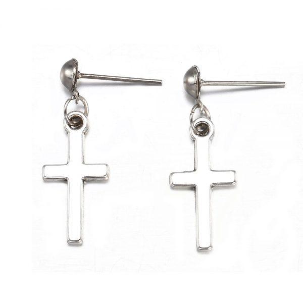 Cross pendant Earrings 6