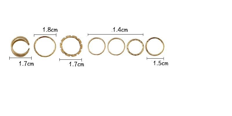 Resizable Rings set for fingers 44