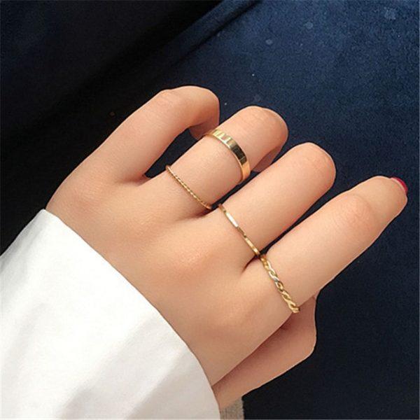 Resizable Rings set for fingers 11