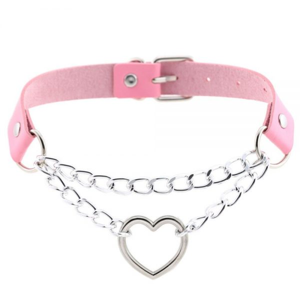 Choker with Heart and chains 6