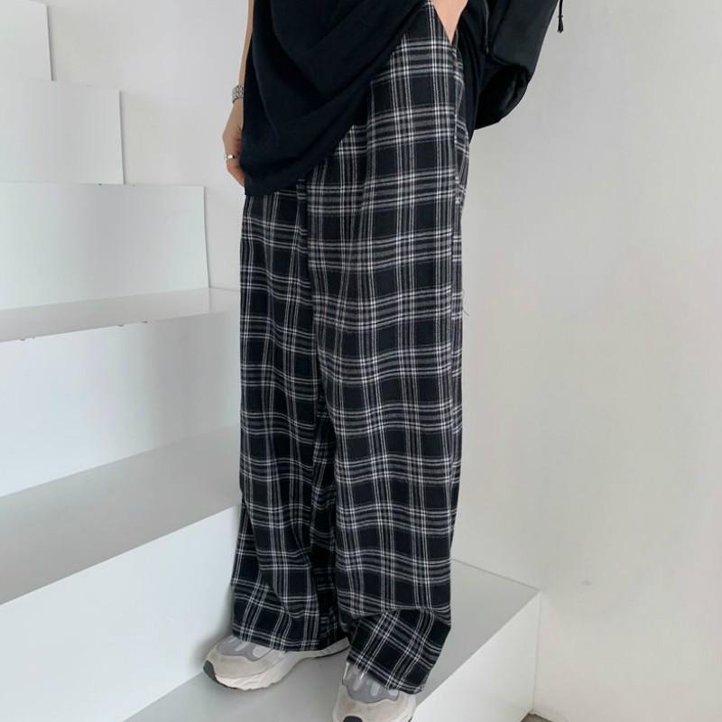 Plaid Oversize Pants E-boy E-girl 42