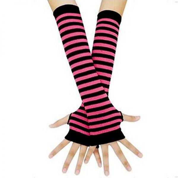 Knitted Long Fingerless Mittens 9