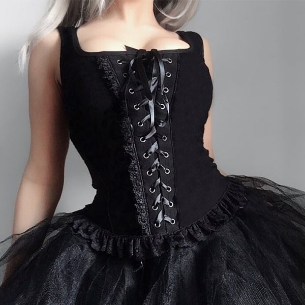 Black Lace Tank Top 1