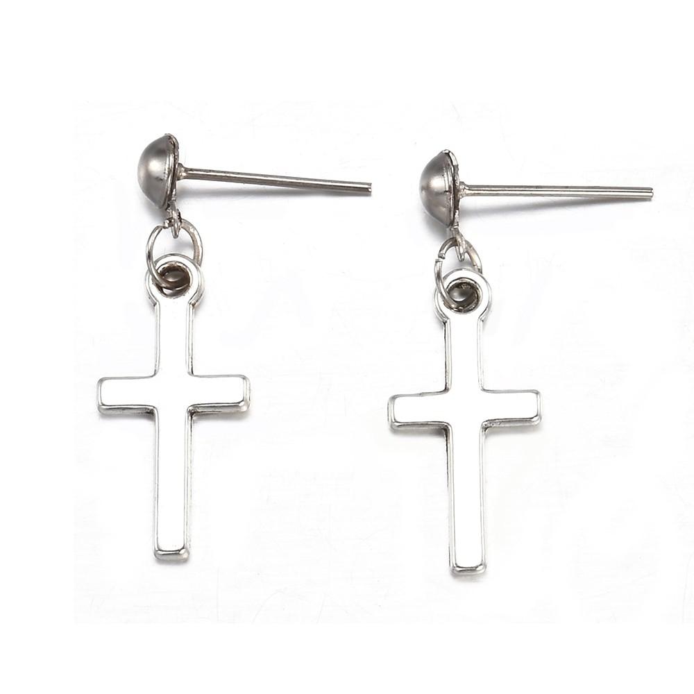 Cross pendant Earrings 46