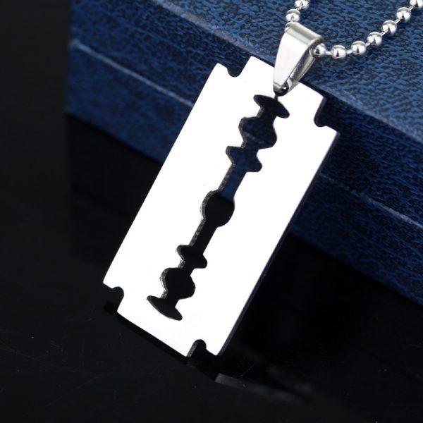 Razor Blade Pendant Necklaces 2