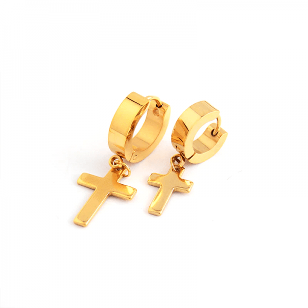 Earrings with Cross pendant 5