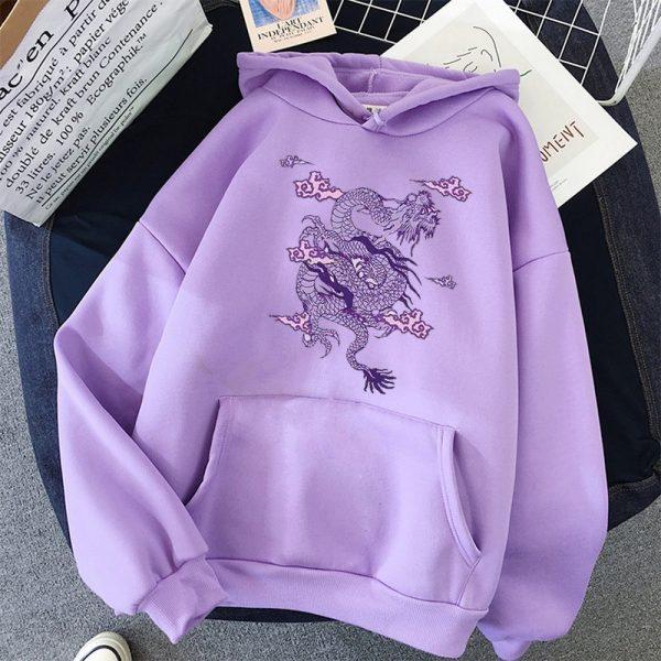 Dragon Print hoodie 1