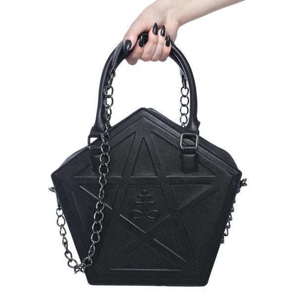 Pentagram Punk Gothic Star Handbag 2