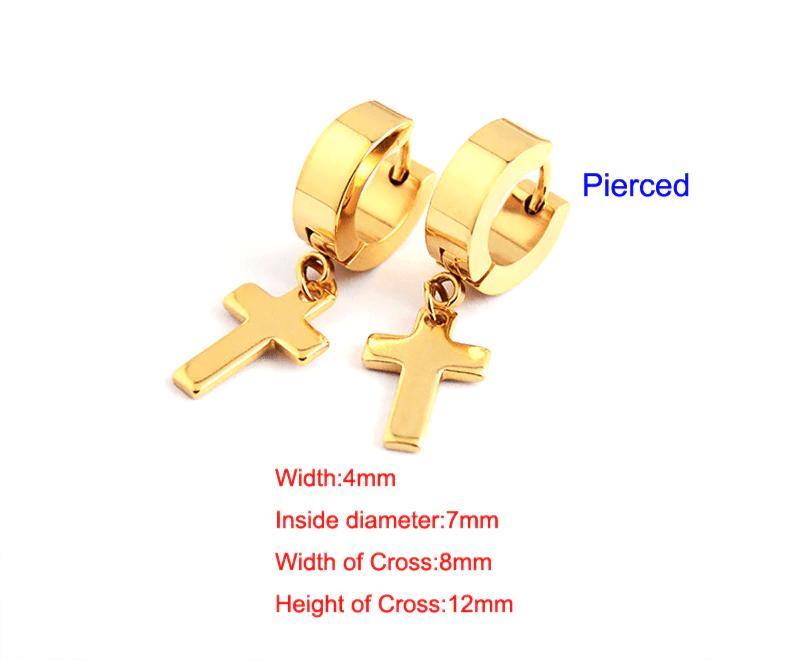 Earrings with Cross pendant 15