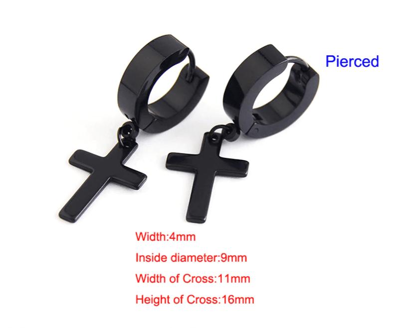 Earrings with Cross pendant 17