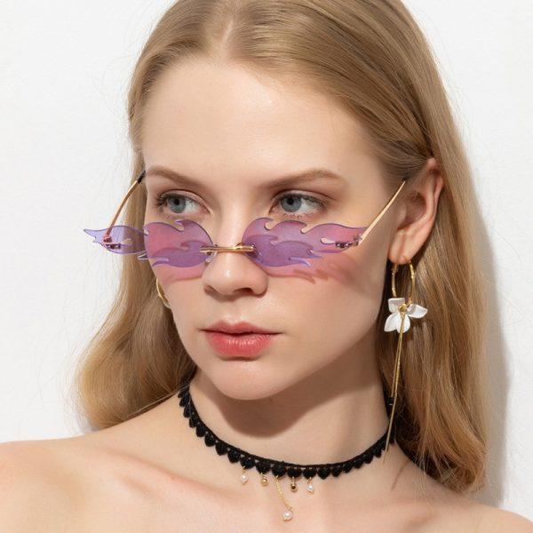 Rimless Flame Sun Glasses 5