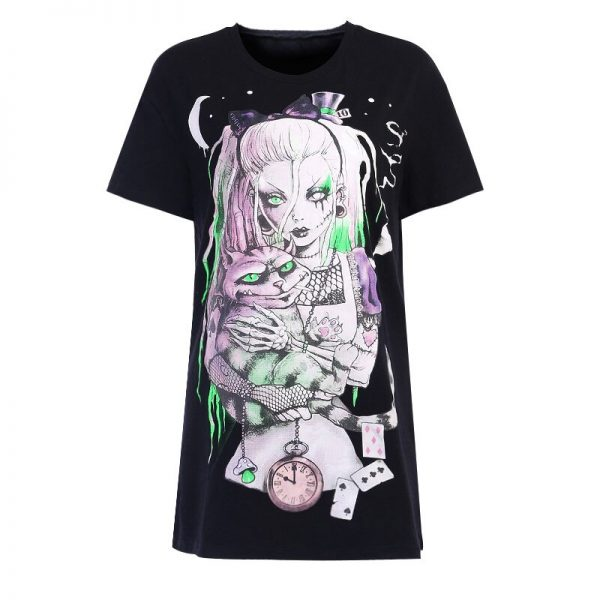 Gothic T-shirts with Cartoon print 6
