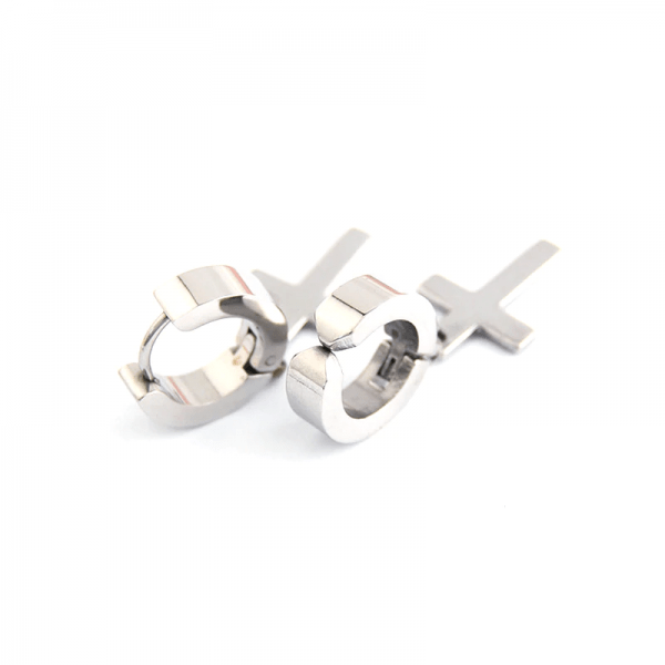 Earrings with Cross pendant 3