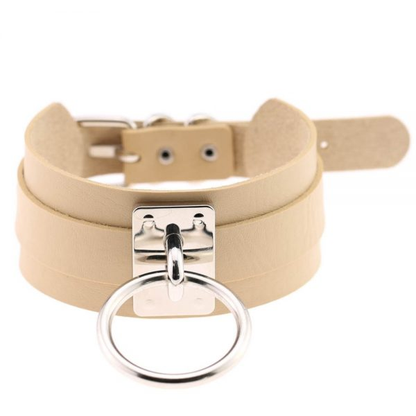 Wide Choker with Ring 16