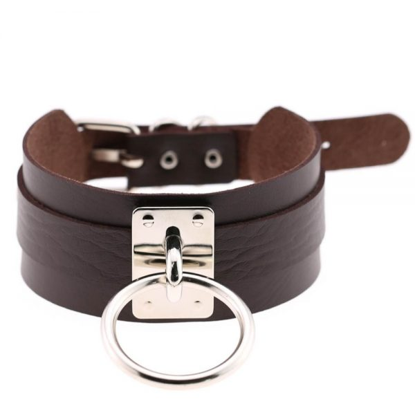 Wide Choker with Ring 28