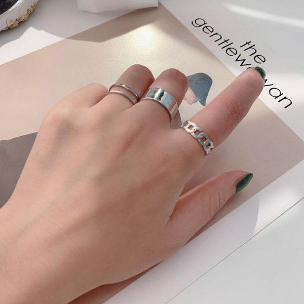 Resizable Rings set for fingers 3