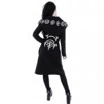 Loose Coat Hoodie With Moon Print 5