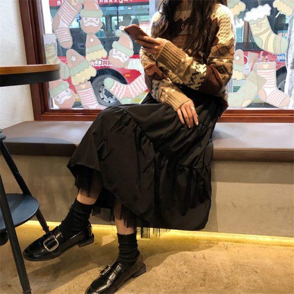Long Midi Skirts  with Elastic High Waist 14