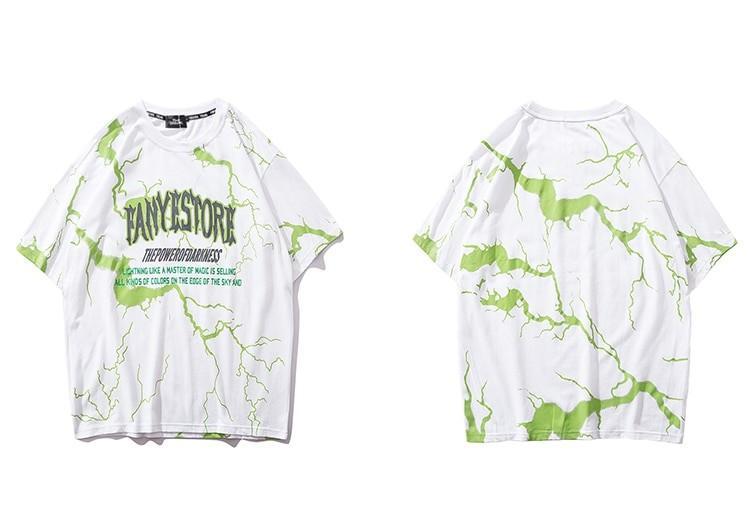 Lightning print T-shirt E-boy E-girl 41