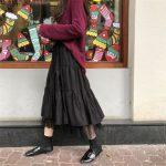 Long Midi Skirts  with Elastic High Waist 5