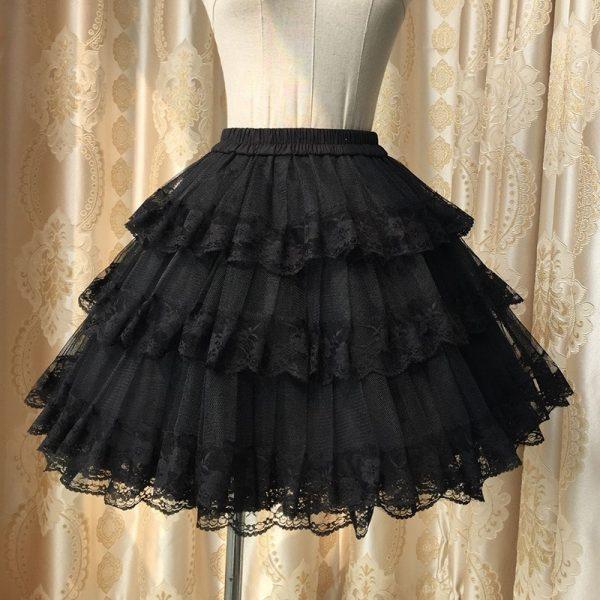 White/Black Lace Petticoat/Tutu Skirt 2