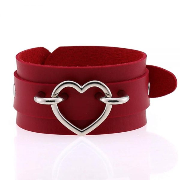 Wide Wristband with Heart 2