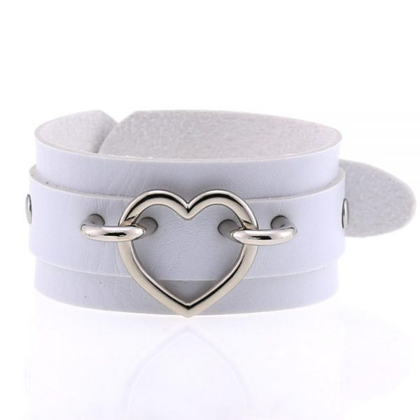 Wide Wristband with Heart 4