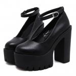 High-heeled platform shoe