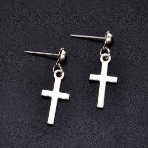 Cross pendant Earrings 1