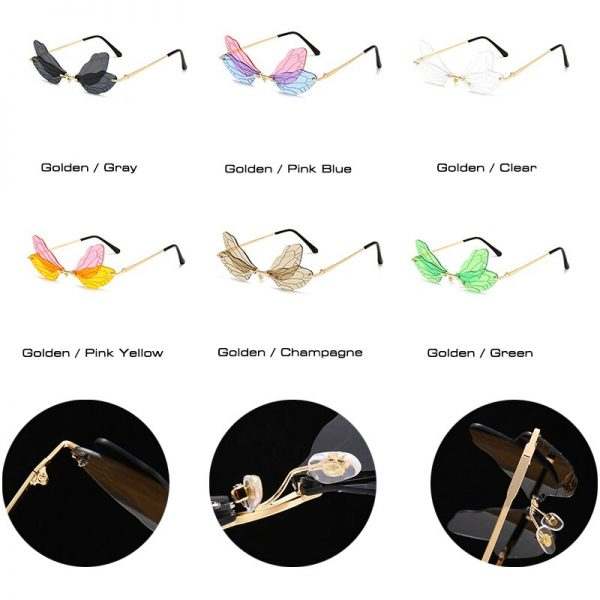 Rimless Dragonfly Wing Sunglasses 6