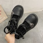 Lolita shoes with platform round head and heart buckles 8