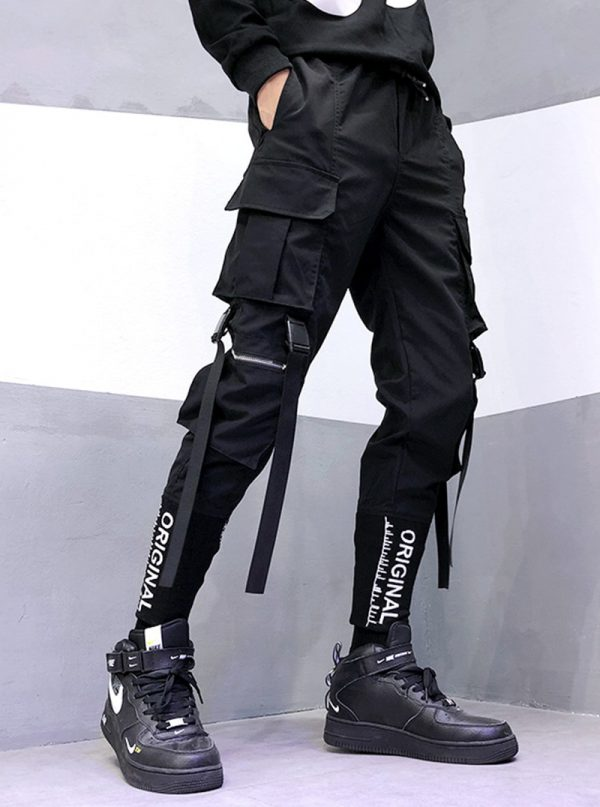 Streetwear Joggers  with Ribbons Pockets 9
