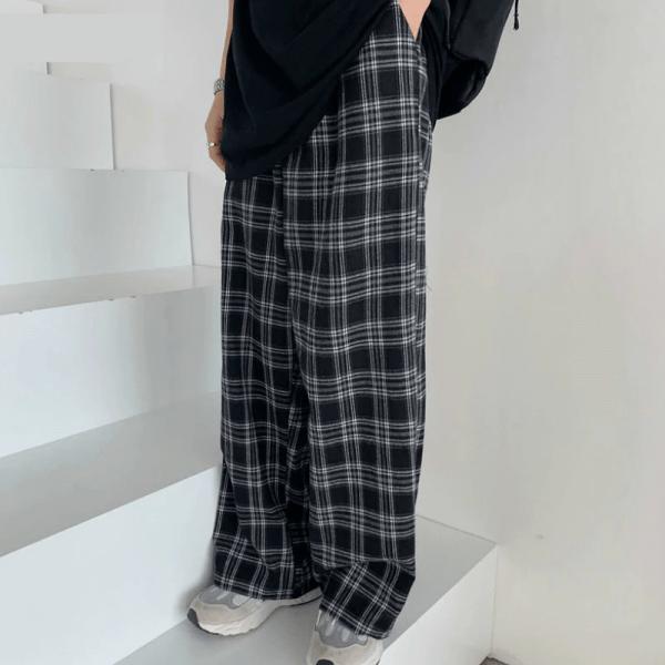 Plaid Oversize Pants