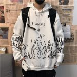 Oversized hoodie with flame print 4