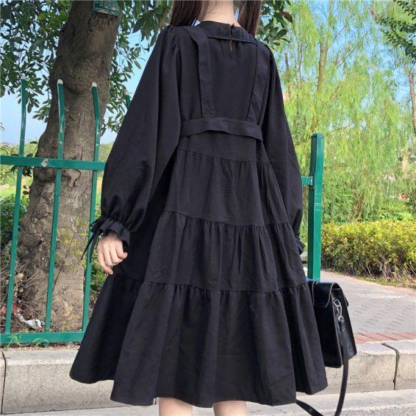 Harajuku Black Midi Dress 12