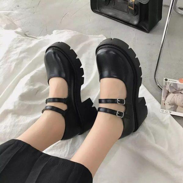 Lolita Vintage Shoes with High Heel Platform 3
