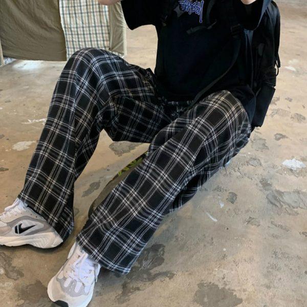 Plaid Oversize Pants 5