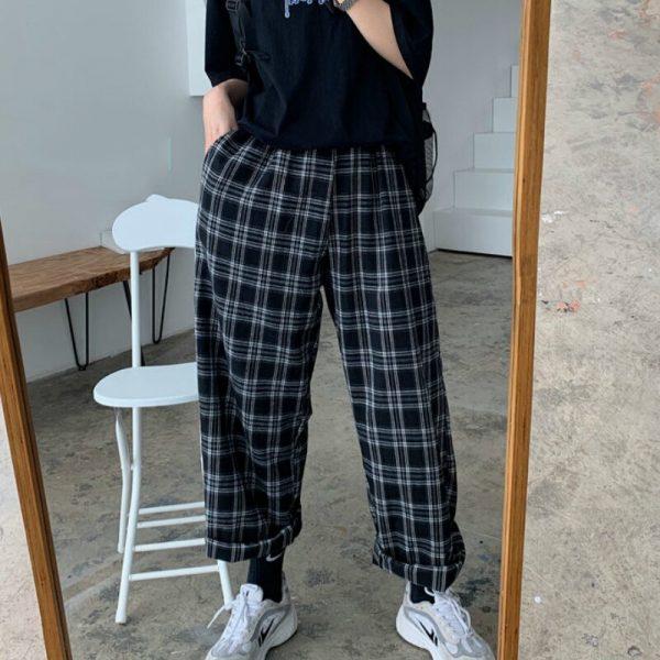 Plaid Oversize Pants 4