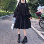 Harajuku Black Midi Dress 10