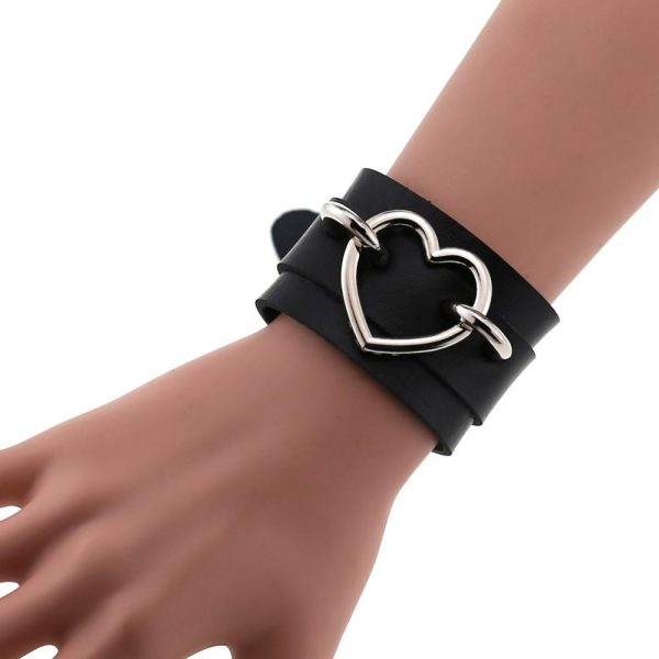 Wide Wristband with Heart 5